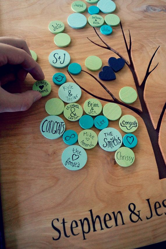 Alternative Wedding Guest Book Tree Guestbook by CForiginal