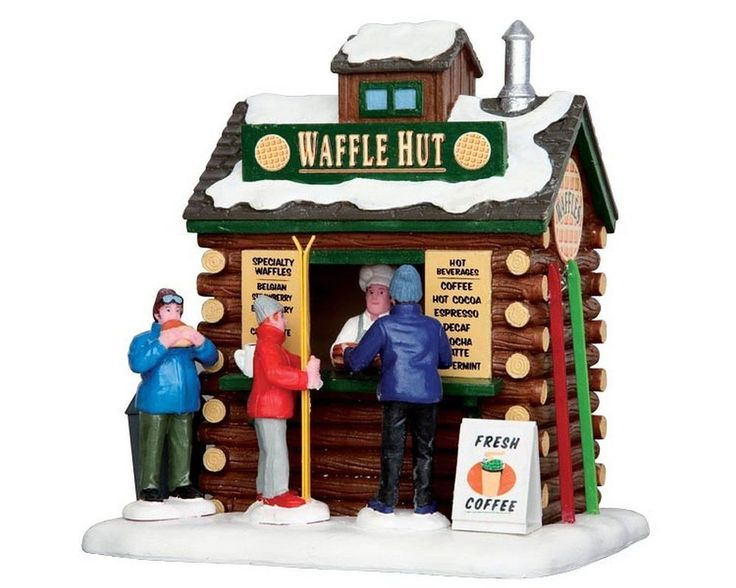 """LEMAX CHRISTMAS VILLAGE """"WAFFLE HUT"""" MPN NO. 43074, TABLE ACCENT #Lemax"""