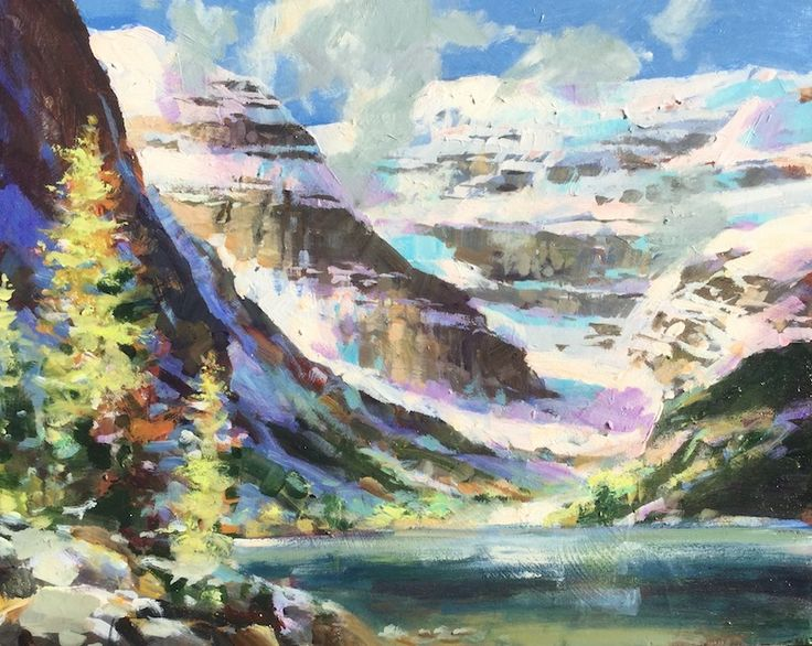 "'Lake Louise' Brent Heighton Original Acrylic on Canvas 16""x20"" www.brentheighton.com www.wlag.net"