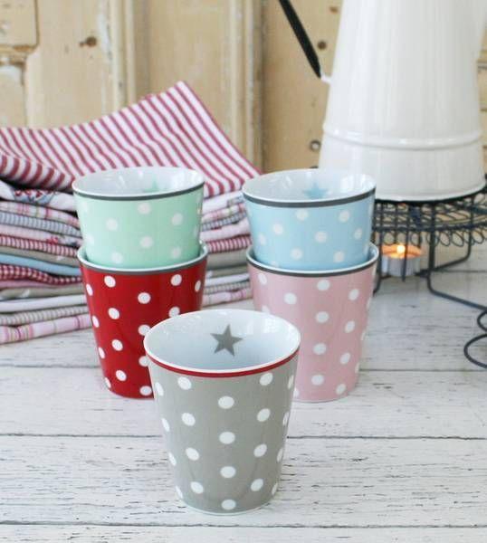 Krasilnikoff Happy Mug dots Pink