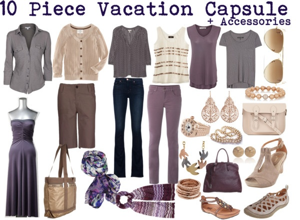 """Lavender Travel Wardrobe"" by susanmcu on Polyvore"
