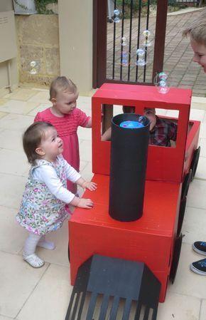 how to make a cardboard train for kids