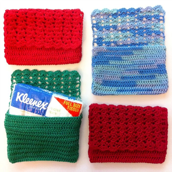 Knitting Pattern Tissue Holder : 11 best images about pocket tissue covers on Pinterest ...
