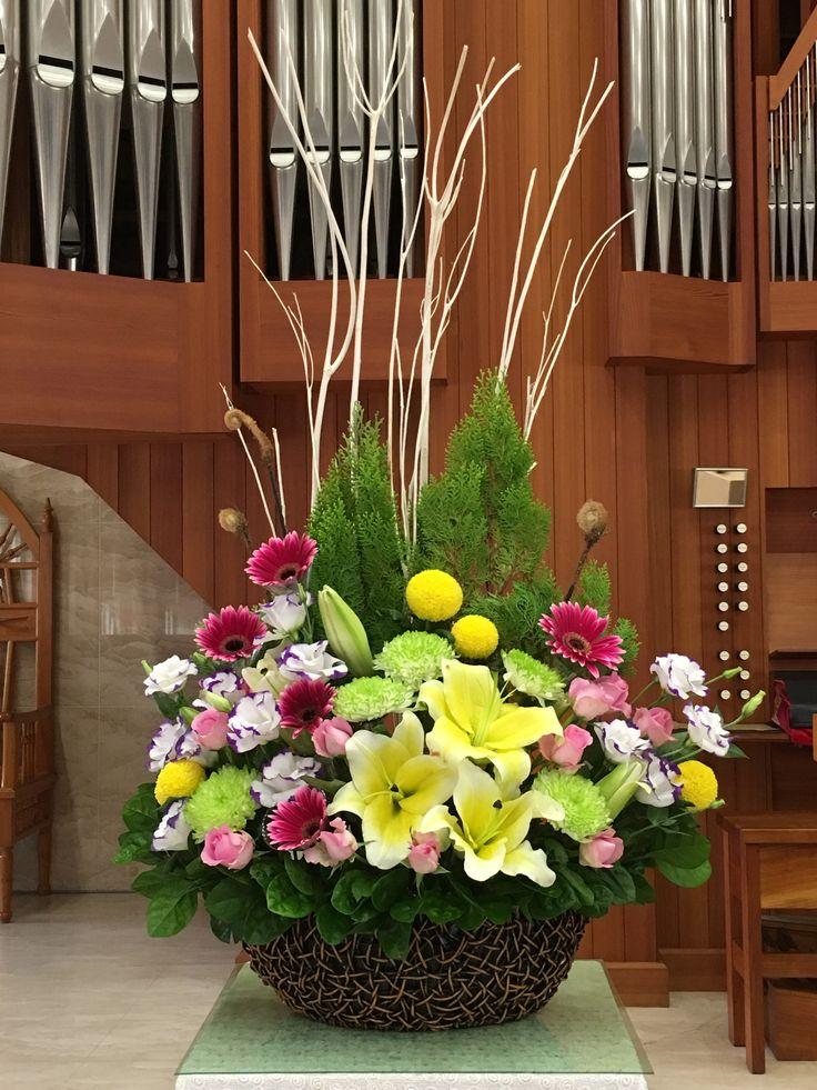 2016.12.04 主日插花 02 Flower arrangements for the church 教会のフラワーアレンジメント