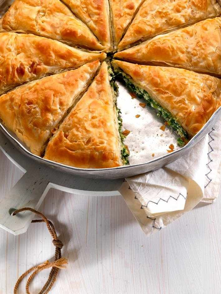 Spanakopita a traditional greek pie with spinach and feta for Authentic greek cuisine