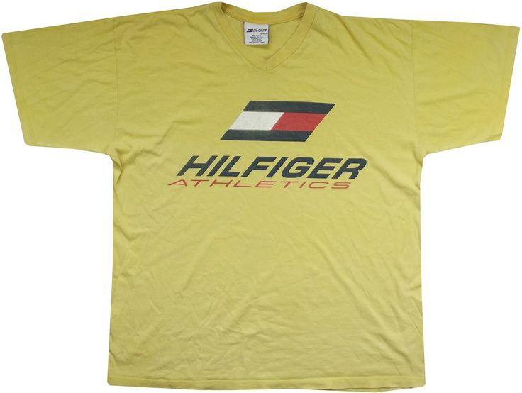 Image of vintage tommy hilfiger t shirt size xl clothes for Tommy hilfiger shirt size chart