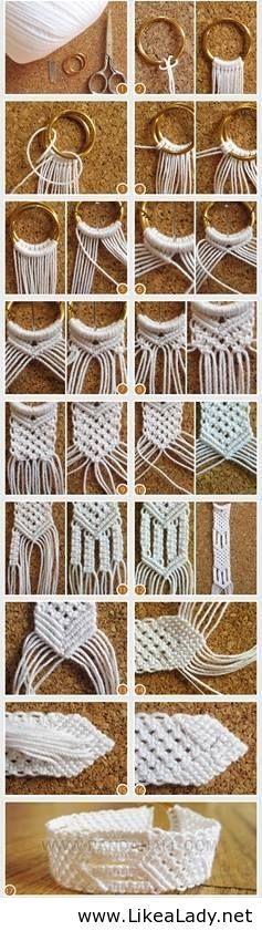 Hot to make string bracelets