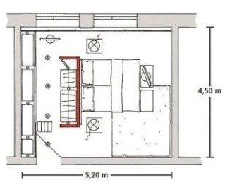 Idea armario separador de ambientes y cabecero