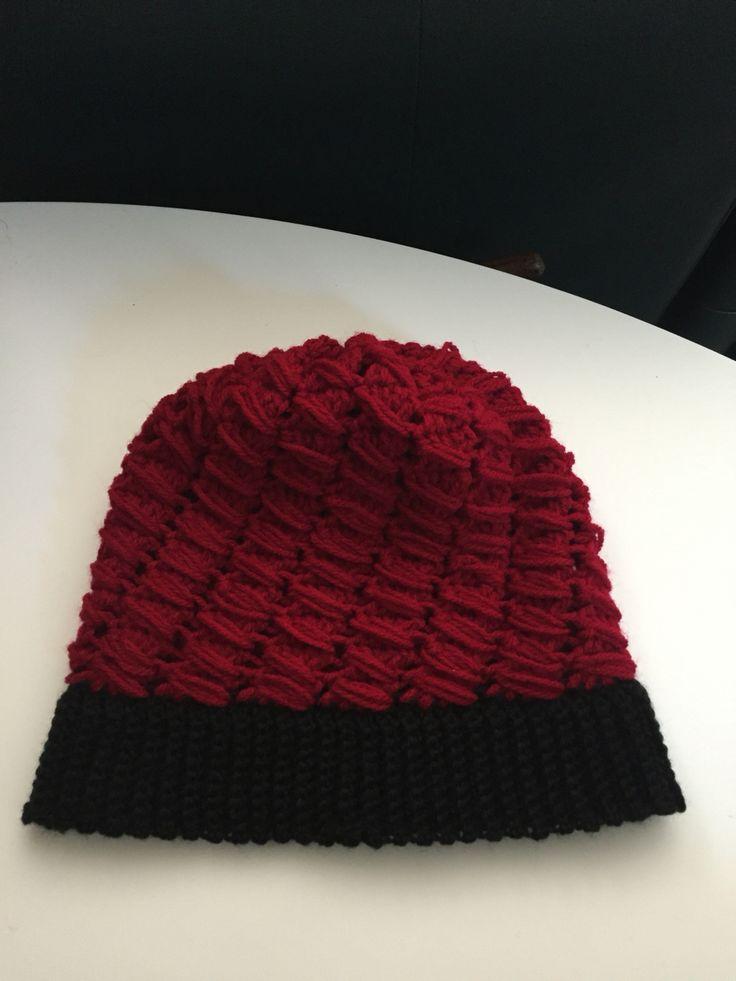 Boina tejida a crochet