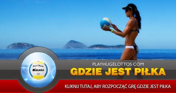 Konkurs Gdzie Jest Piłka - do wygrania €600 w postaci kredytów do gry!  Oto jak możesz zdobyć szanse na grę w konkursie:   1. Zarejestruj się na PlayHugeLottos.com i zdobądź 5 szans na grę w konkursie  2.Uaktualnij szczegóły konta i zdobądź 4 szanse na grę w konkursie  3. Loguj się codziennie na swoim koncie, aby otrzymać dodatkową szansę na grę w konkursie  Konkurs trwa do 25 lutego 2013.  http://www.playhugelottos.com/pl/spot-the-ball-2013.html