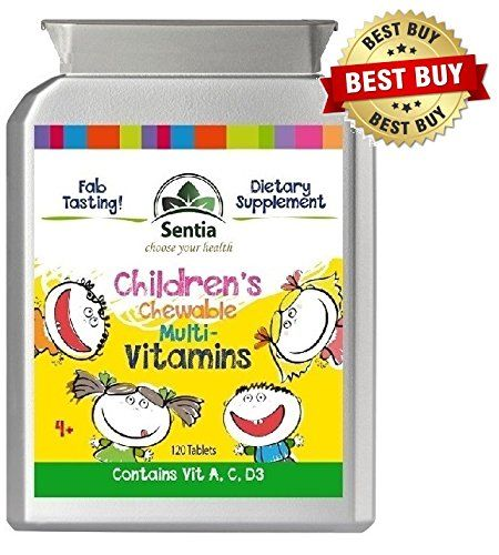Fab Tasting Children's Chewable Multivitamins (120 Pack size) 4 Month Supply of Nutritional support for your children