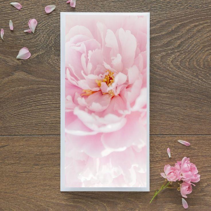 Single Blank Card by landscape photographer Nina K Claridge - Peony