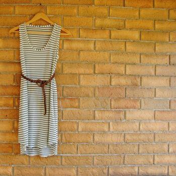 Rebecca's perfectly striped knit #Wiksten tank dress