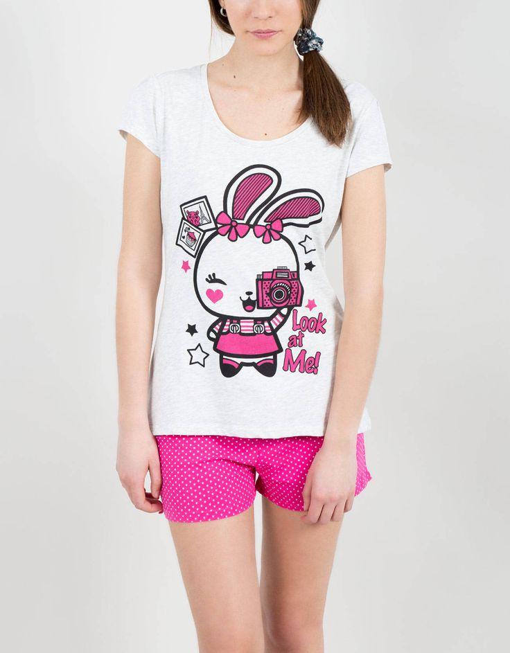 Pijama corto bunny pop-Shana