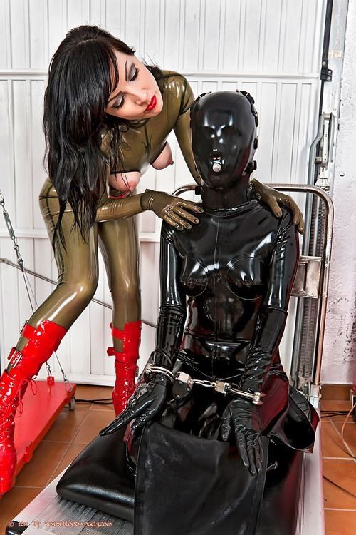 image Sissy boy gas mask training