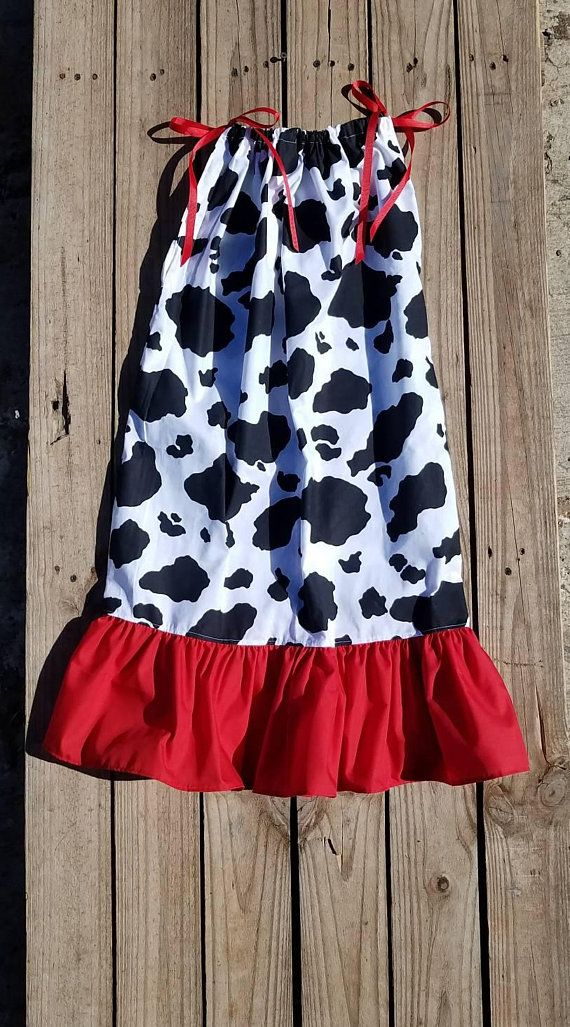 Cow Print Birthday Theme Party Cowgirls Costume Red Black White