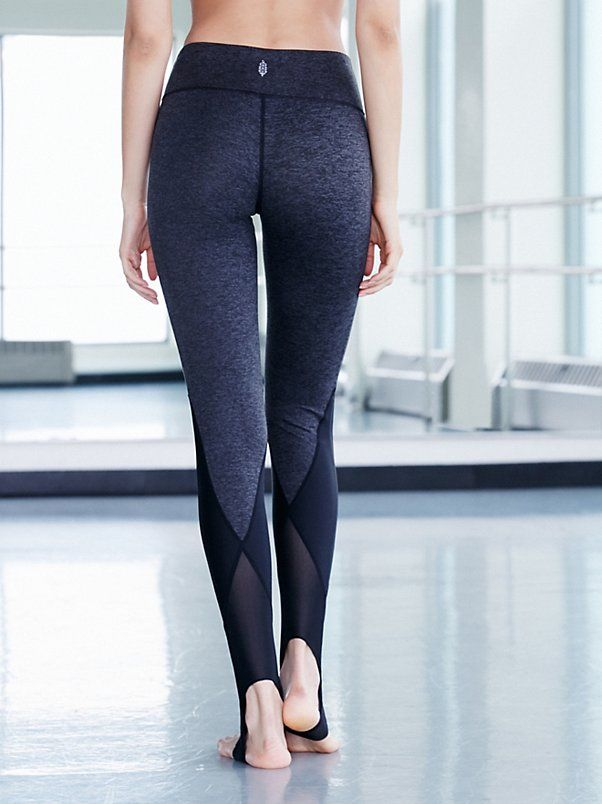 Neo Stirrup Legging | Crafted from double-brushed jersey, these leggings feature a so-soft fabric with heat-trapping technology. Sweat-wicking finish works to pull moisture away so you stay high and dry during your toughest workouts. Stirrup hem features Power Mesh trims for a tight-to-the body fit. Contrast panels make for a sleek look.