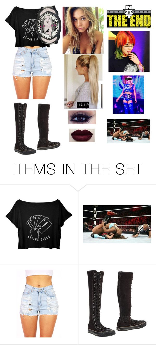 """Alexis Jacobs vs Asuka: NXT Women's Championship"" by wwegirl2424 ❤ liked on Polyvore featuring art"
