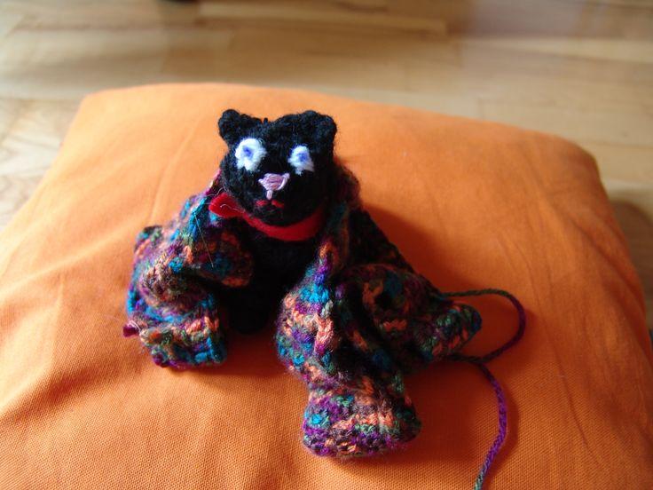 Cute Crazy Crochet Cat :D