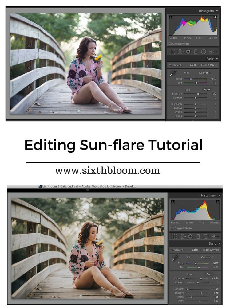 Photography Tips | How to edit sun-flare, back lighting in pictures, tips for back lit photos. Photoshop tips. Nordic360.