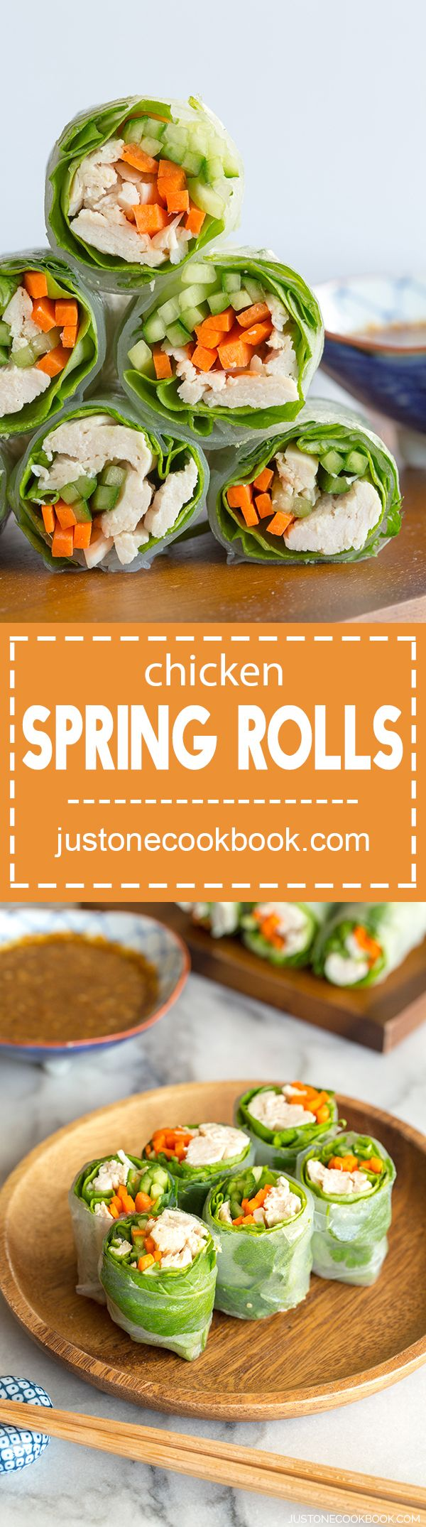 Chicken Spring Rolls (棒棒鶏の生春巻き)  |  Easy Japanese Recipes at JustOneCookbook.com