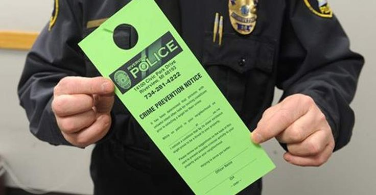 """Unfortunately, most residents seem to be embracing the idea of police snooping around their homes. What would you do if you saw this flyer hanging on your door? Police Implement Program to Snoop Around Private Property, Leaving Notices """"To Keep You Safe"""" By John Vibes on February 17, 2015."""