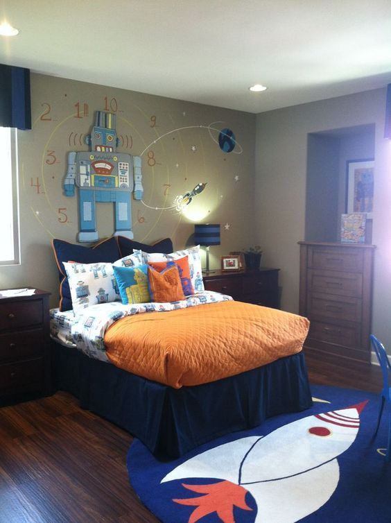 cool boys' bedroom decor ideas - Find and save ideas about Boy bedrooms on Scoutblogging.com | See more ideas about Boy rooms, Big boy rooms and Marvel childrens bedrooms.