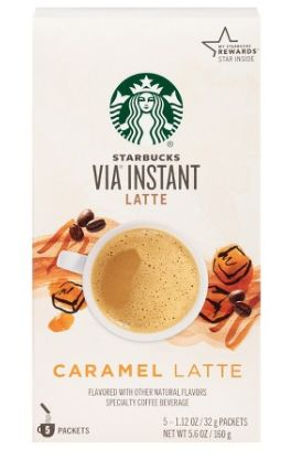 Starbucks Coupon: Score $1 Off Starbucks Via Latte Instant Coffee Score $1 off any one Starbuck's Via Instant coffee Latte brew with our Starbucks coupon.