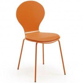 Jazz - LaForma-Kave - Oranje Betaalbare designstoel - Vlinder stoel, is een stijlvolle stoel gemaakt van hout, met metalen onderstel.