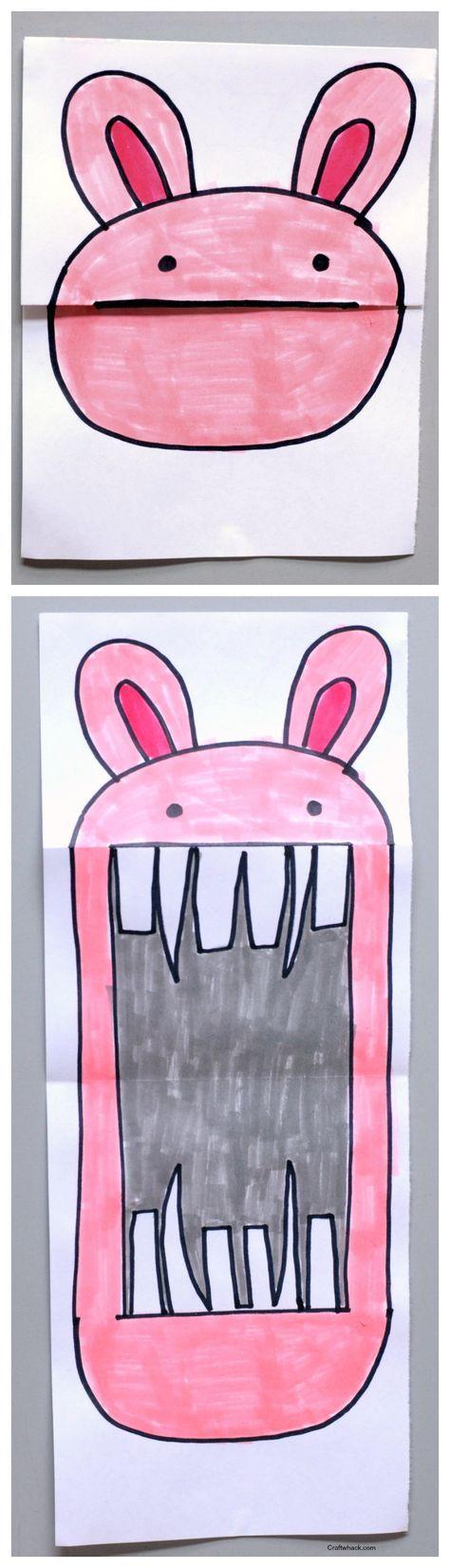 projet d'art de papier de lapin Plié • projets artistiques pour les enfants • projets artistiques faciles • Craftwhack.com
