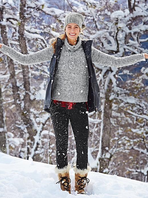 Traverse City Sweater | Athleta Love the beanie too!