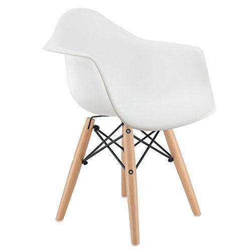 promo 1 fauteuil enfant inspiration eiffel daw pieds bois clair assise blanc mobistylmc - Fauteuil Scandinave Enfant