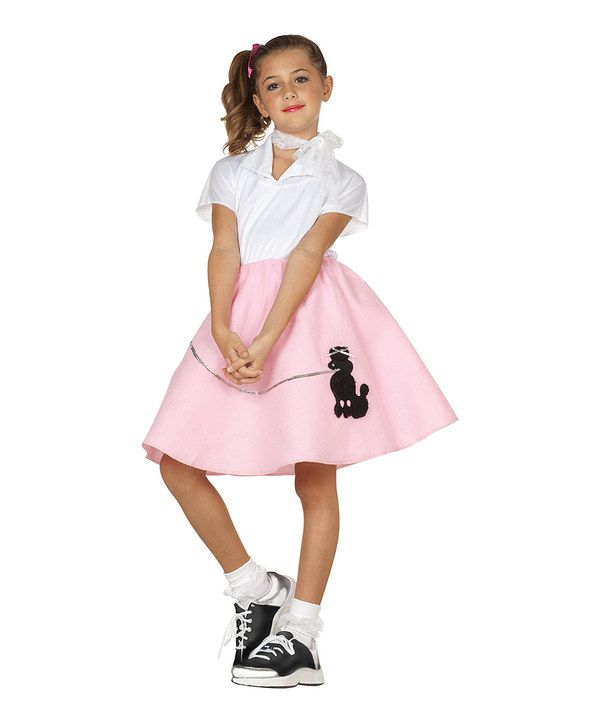 Take a look at this White & Pink Sock-Hop Dress-Up Outfit - Girls on zulily today!