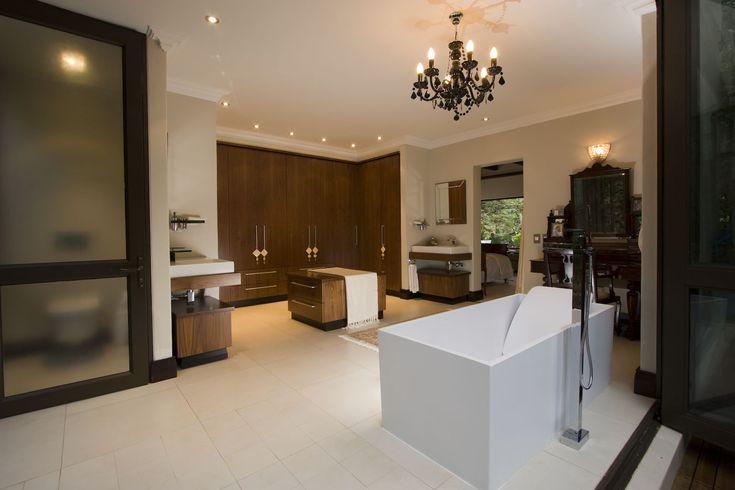 Large Modern styled bathroom