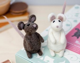 Items similar to Mouse With Flower Posy Needle Felting Kit DIY Craft Kit Make Your Own Needle Felted Mouse 'Maisie' Mouse Suitable for Beginners on Etsy