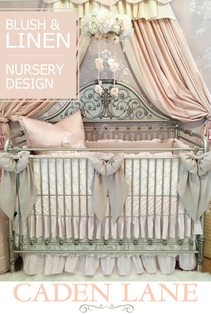 Baby bedding lamb theme sweet pea lamb baby bedding and nursery - Harlow S Blush Nursery