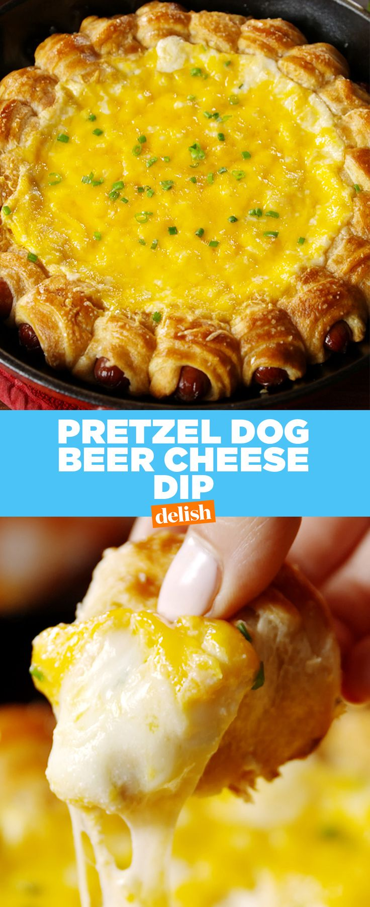 There's only one way to beat cheese chip dip — add hot dogs. Get the recipe from Delish.com.