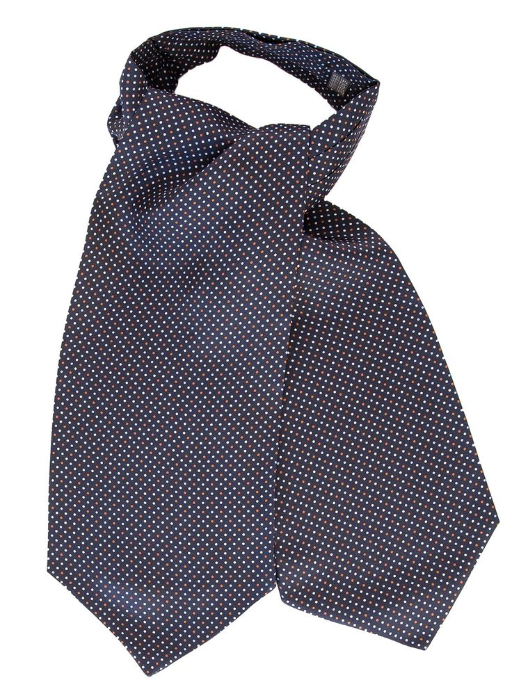 Lucerne-Polka Dot Silk Ascot Tie