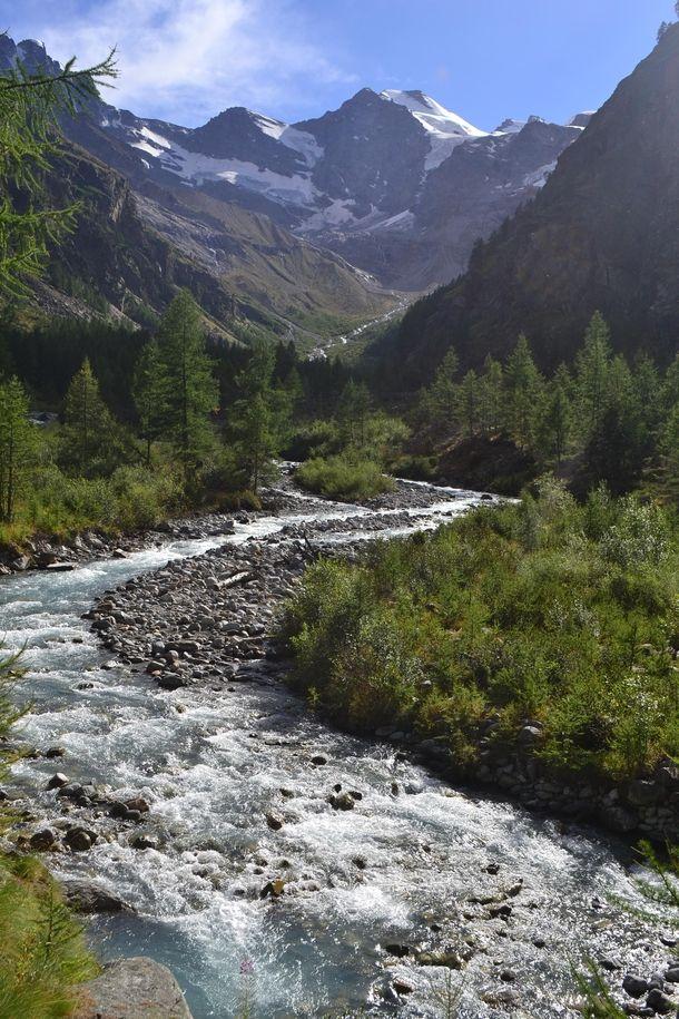 A path near Cogne Gran Paradiso National Park the Italian Alps