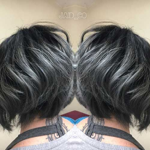 10.Short-Grey-Hairstyle » New Medium Hairstyles