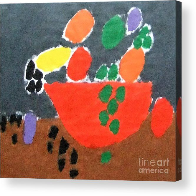 Patrick Francis Acrylic Print featuring the painting Bowl Of Fruit 2014 by Patrick Francis