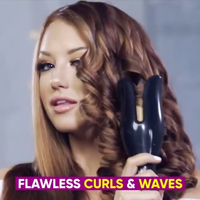 PowerCurl® Curling Iron lets you curl, iron, and condition your hair at the same time. Our one-inch ceramic coating barrel allows rapid heating of hair. The barrel produces the heat of up to 210°C and its AI evenly distributes this to avoid any potential hair damage.