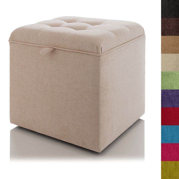 Details about STORAGE FOOTSTOOL BUTTONED OTTOMAN BLANKET BOX - SEAT POUFFE  TOY BOX LARGE SMALL - 25+ Best Ideas About Storage Footstool On Pinterest Small