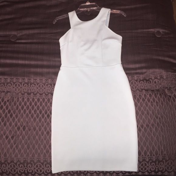 Form fitting baby blue dress. Form fitting baby blue dress from Forever 21. Never worn, in perfect condition. Looks white in the pictures, but it is light baby blue. Forever 21 Dresses Mini