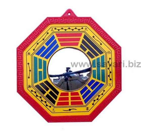 Feng Shui Pakua con pentagramas de I Ching y espejo convexo. El Pakua es utilizado en Feng Shui para estabilizar en su casa las energías de forma. 19,95€  Encuentra más modelos en SAVARI