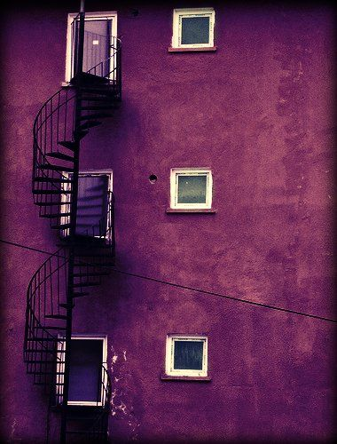 Purple wall: