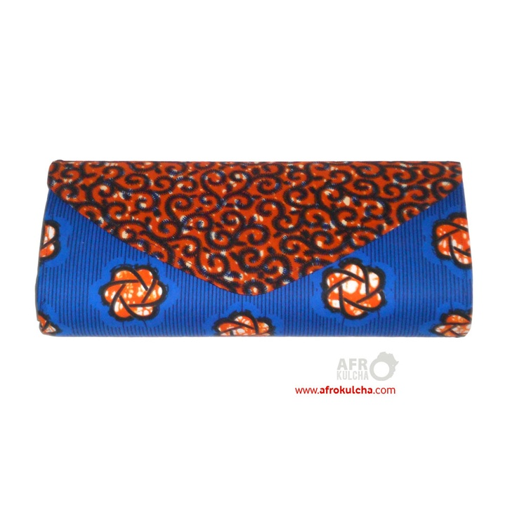 Afro print clutch bag