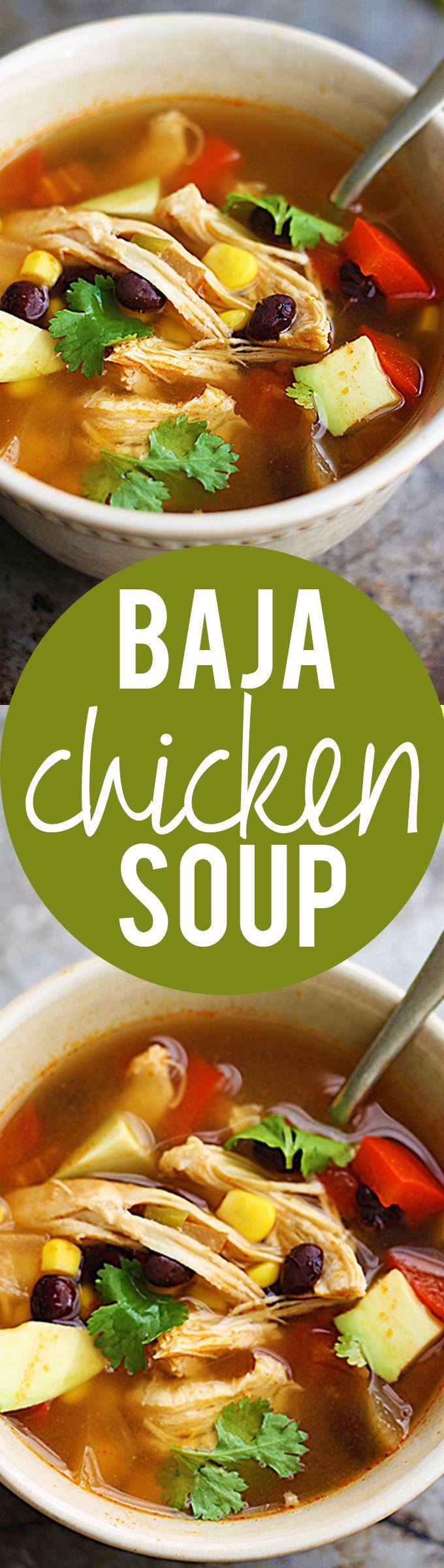 Baja Chicken Soup | Creme de la Crumb