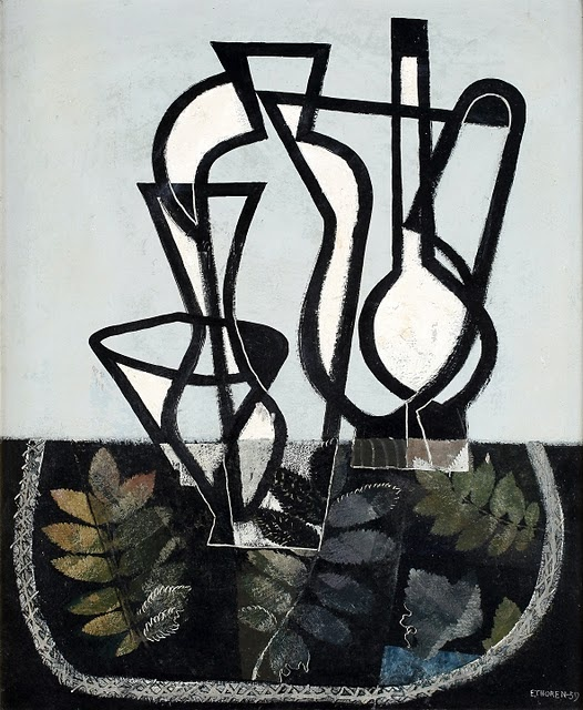 Esaias Thorén, Composition with Figurines, 1959