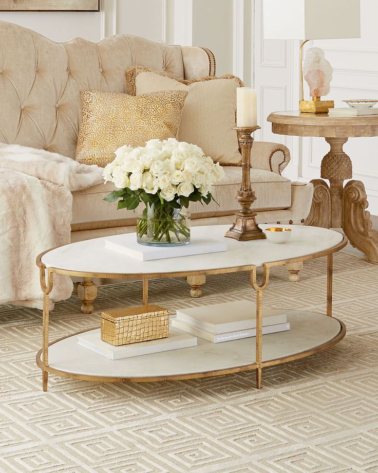 Expected To Ship 8/10/15 Olivia Marble Top Coffee Table By Global